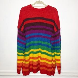 ASOS Plus Size Rainbow Sweater